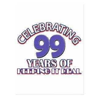 99.os diseños divertidos del cumpleaños tarjeta postal