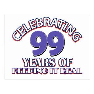 99.os diseños divertidos del cumpleaños postal