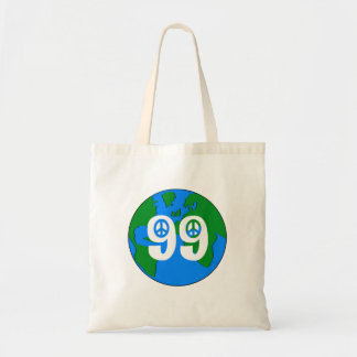 99% Peace Earth  retro tote