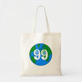 99% Peace Earth  retro tote