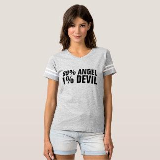 99 PERCENT ANGEL 1 PERCENT DEVIL funny T-shirts