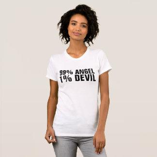 99 PERCENT ANGEL 1 PERCENT DEVIL Ladies T-shirts