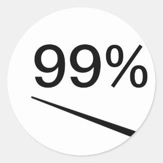 99 Percent Classic Round Sticker