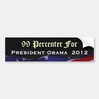 99 Percenter For President Obama 2012 Sticker