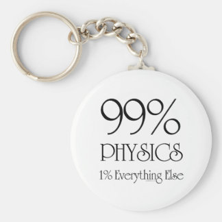 99% Physics Basic Round Button Keychain