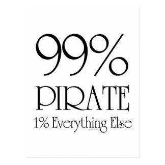 99% Pirate Postcard