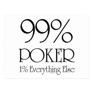 99% Poker Postcard