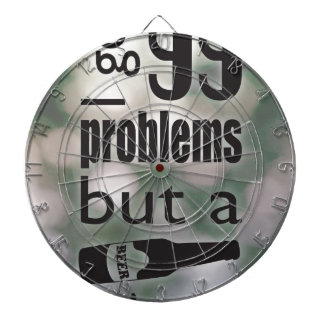 99 problems but a beer ain't one dartboard