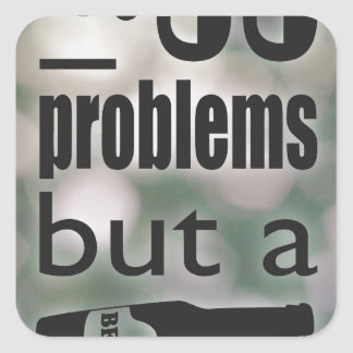 99 problems but a beer ain't one square sticker