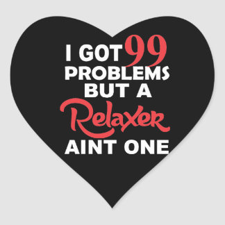 99 Problems But A Perm Aint One Heart Sticker
