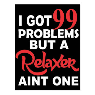99 Problems But A Perm Aint One Postcard