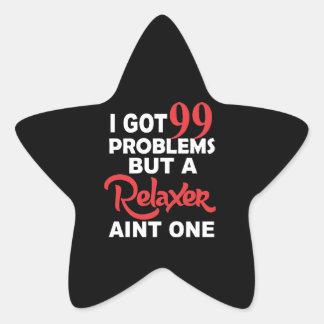 99 Problems But A Perm Aint One Star Sticker