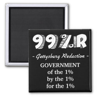 99%r Gettysburg Address government of 1% 2 Inch Square Magnet
