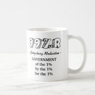 99%r Gettysburg Address government of 1% Classic White Coffee Mug