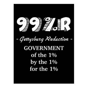 99%r Gettysburg Address government of 1% Postcard