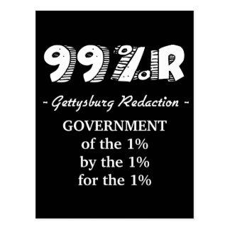 99%r Gettysburg Address government of 1% Postcard