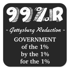 99%r Gettysburg Address Square Sticker