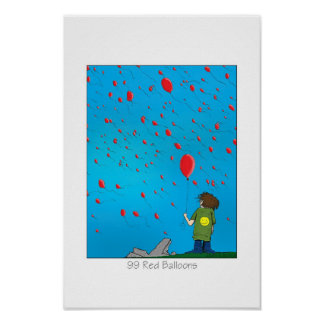 99 Red Balloons Poster