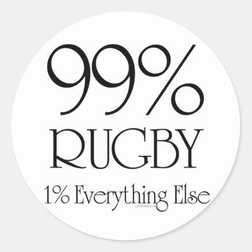 99% Rugby Classic Round Sticker