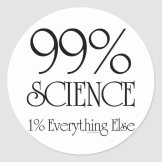 99% Science Classic Round Sticker