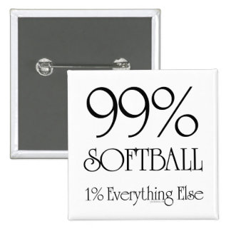 99% Softball Pinback Button