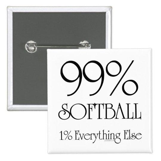 99% Softball Button