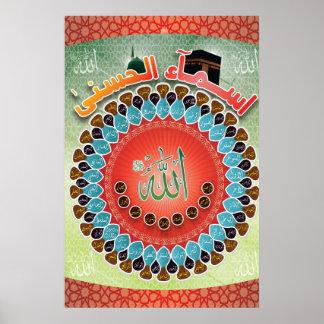 99 Special Names of Allah - Asma-ul-Husna Poster