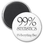 99% Statistics 2 Inch Round Magnet