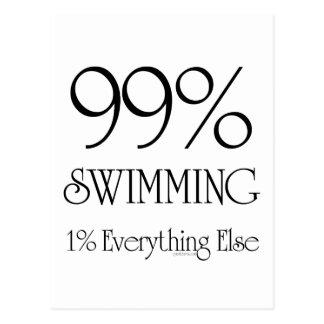 99% Swimming Post Card