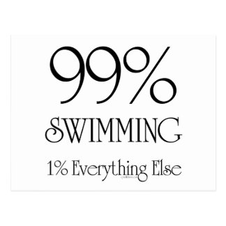 99% Swimming Postcard