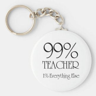 99% Teacher Keychain