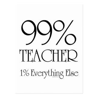 99% Teacher Postcard