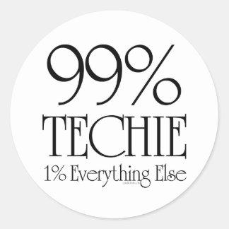 99% Techie Classic Round Sticker