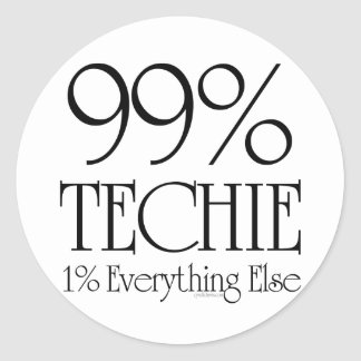 99% Techie Classic Round Sticker