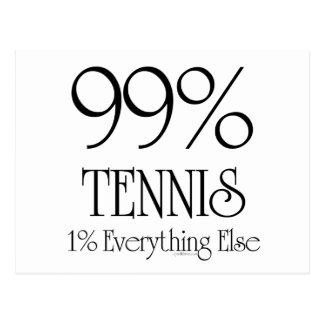 99% Tennis Postcard