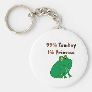 99% Tomboy 1% Princess Basic Round Button Keychain