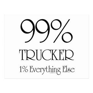 99% Trucker Postcard