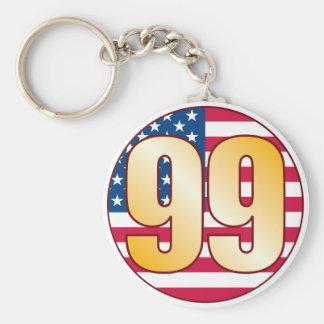 99 USA Gold Basic Round Button Keychain