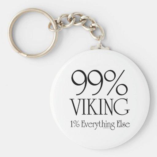 99% Viking Basic Round Button Keychain