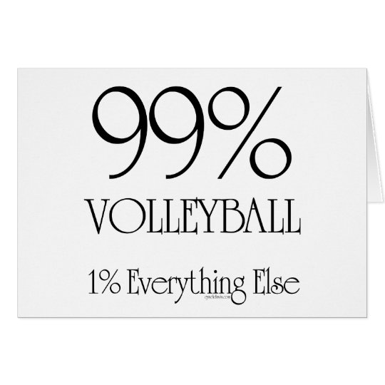 99% Volleyball Card