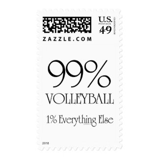 99% Volleyball Postage Stamp
