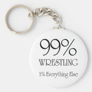 99% Wrestling Basic Round Button Keychain