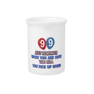 99 y sobre los diseños del cumpleaños de la colina jarrón