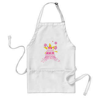 99 Year Old Birthday Cake Adult Apron