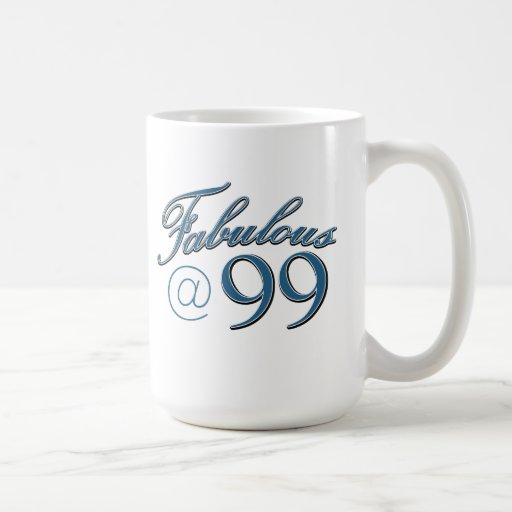 99  year old birthday designs classic white coffee mug