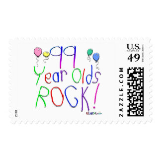 99 Year Olds Rock ! Stamps
