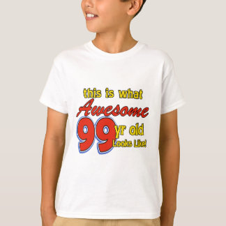 99 YEARS OLD BIRTHDAY DESIGNS T-Shirt