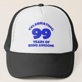 99 years old birthday designs trucker hat