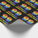 [ Thumbnail: 99th Birthday: Bold, Fun, Simple, Rainbow 99 Wrapping Paper ]