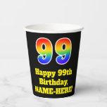 [ Thumbnail: 99th Birthday: Colorful, Fun, Exciting, Rainbow 99 ]